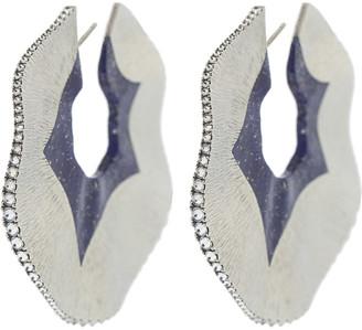 Arunashi Large Lapis Swirl Hoops