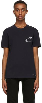 Alexander McQueen Navy Safety Pin Skull T-Shirt