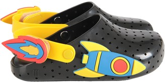 Melissa Black And Yellow Boy Sandals With Rocket
