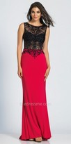 Dave and Johnny Vibrant Sheer Beaded Prom Dress