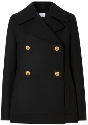 Burberry Wool Double-Breasted Pea Coat