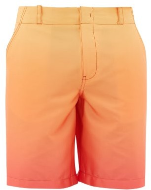 Sies Marjan Sterling Degrade Satin Shorts - Orange Multi