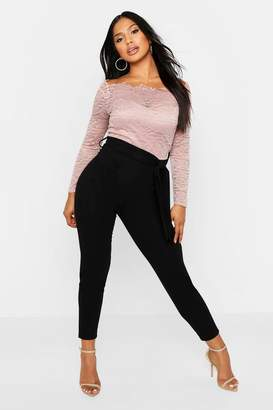 boohoo Off The Shoulder Lace 2 in 1 Jumpsuit