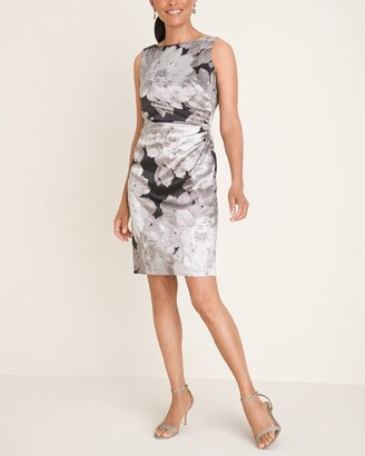 London Times Floral Satin Dress
