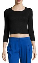 Parker Faro 3/4-Sleeve Crop Top, Black