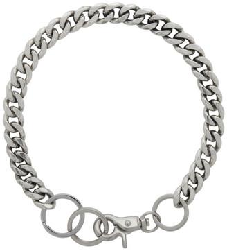 Martine Ali Silver Cuban Link Choker Necklace