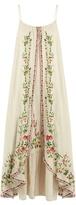 Mes Demoiselles Josephine floral-embroidered cotton dress