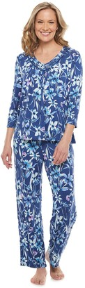 Croft & Barrow Women's 3/4 Sleeve Pajama Top & Pajama Pants Set