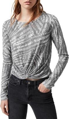 AllSaints Zake Carme Front Twist T-Shirt