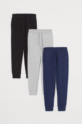 H&M 3-pack Cotton Jersey Joggers