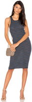 Splendid Stripe Rib Knit Tank Dress