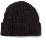 Oliver Spencer - Cable-knit Wool-blend Beanie