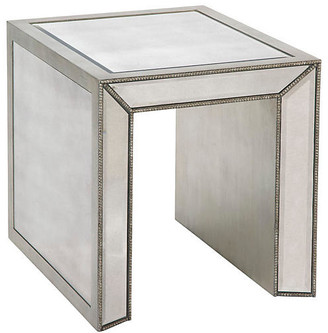 One Kings Lane Madison Side Table - Mirrored - Antiqued Mirror