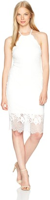 Jump Women's Rose Lace Midi Dress with Scalloped Neck
