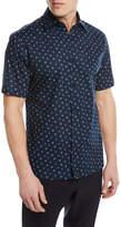 Z Zegna Anchor Pattern Short-Sleeve Sport Shirt