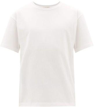 Bottega Veneta Logo-embroidered Cotton-jersey T-shirt - Mens - White