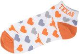 For Bare Feet Women's Texas Longhorns Heart Logo Repeat Socks