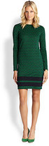 MICHAEL MICHAEL KORS Long-Sleeve Printed Ponte Dress