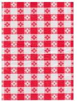 CHF Textured Vinyl Tablecloth Picnic Check Design Flannelback (70 Round, Red)