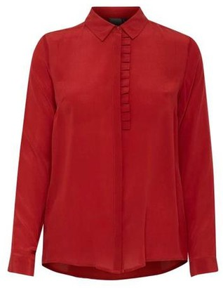 Ichi Red Dhalia Crush Shirt - 38 - Red
