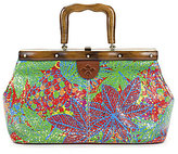 Patricia Nash Tropicana Summer Collection Carmen Wood Frame Satchel