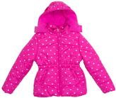 Pink Platinum Pink Foil Star Puffer Jacket - Infant Toddler & Girls