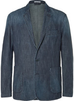 Tomas Maier - Blue Slim-fit Washed-denim Blazer