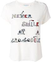 Mira Mikati towel crocodile embroidered T-shirt - women - Cotton/Polyester - 38