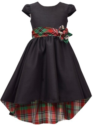 Iris & Ivy Kids' Plaid Lined Fit & Flare Dress