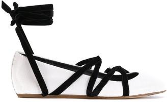 Lanvin strappy ballerina shoes