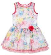 Us Angels Little Girl's Floral Print Ruffled Dress