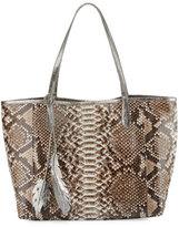 Nancy Gonzalez Erica Python Shopper Tote Bag, Natural/Anthracite
