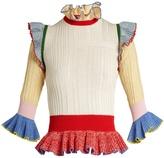 Alexander McQueen Peplum-hem wool and silk-blend sweater