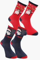 Boohoo 2 Pack Christmas Character Socks