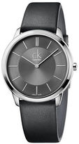 Calvin Klein Stainless Steel and Leather Watch, K3M211C4