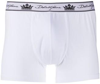 Dolce & Gabbana Crown Logo-Print Boxer Briefs
