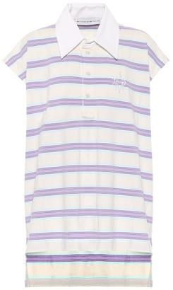 Matthew Adams Dolan Sleeveless striped cotton polo shirt