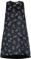 Balenciaga Metallic-flower embroidered dress