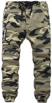 YoungSoul Boys Pull On Jogger Pants Camo Print Cuff Jogging Bottoms Yellow(Regular) 11-12T