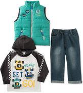 Kids Headquarters Little Boys' 3-Piece Hoodie, Vest & Pants Set