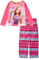 Komar Kids Pink Barbie Fair Isle Pajama Set - Kids & Tween