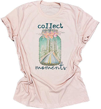 Party On! Women's Tee Shirts Peach - Peach 'Collect Moments' Crewneck Tee - Women