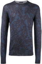 Etro paisley print jumper - men - Silk/Cashmere/Wool - XL
