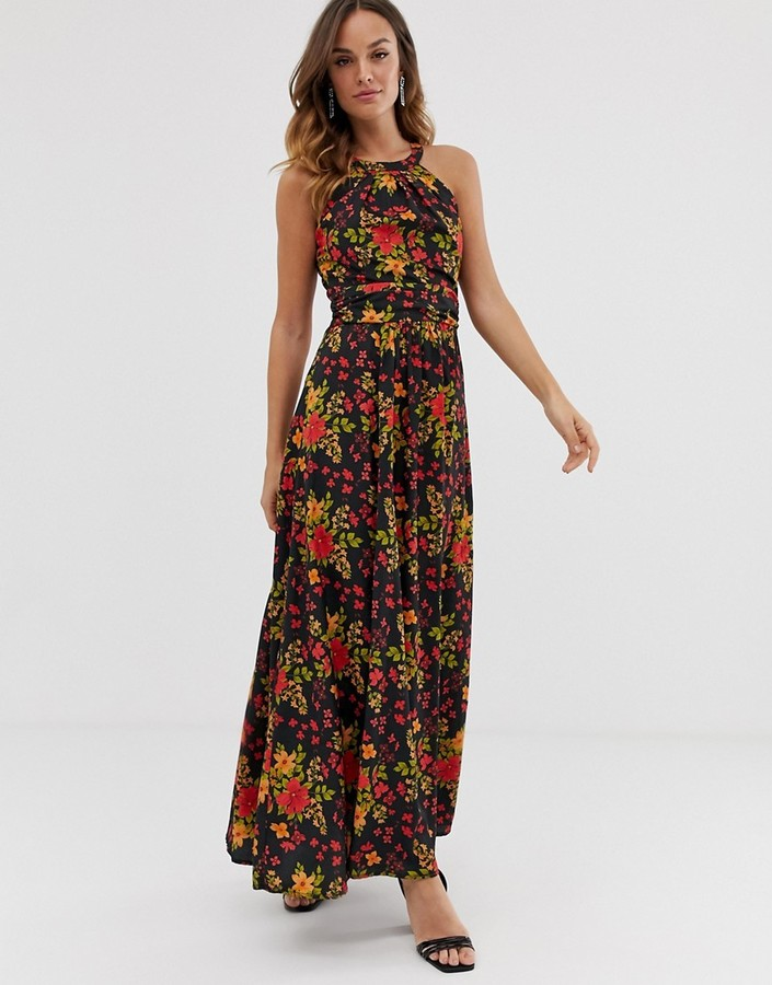 Yumi high neck maxi dress