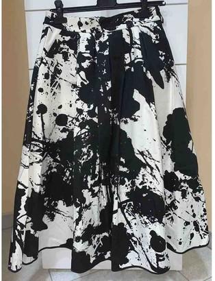 Mangano White Cotton Skirt for Women