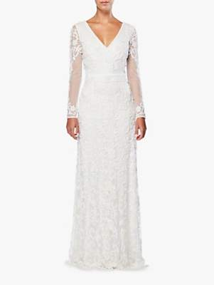 Raishma Embellished Bridal Gown, White