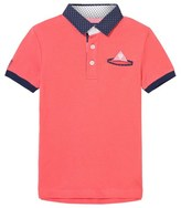 Mayoral Coral Smart Polo with Contrast Collar