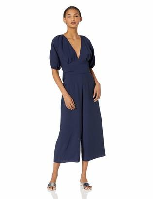 Keepsake Women's Luminous Short Sleeve Wide Leg Cropped Jumpsuit