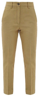 Golden Goose Algisa Checked Cotton-blend Trousers - Brown