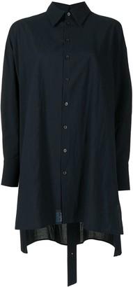 Yohji Yamamoto High-Low-Hem Cotton Shirt